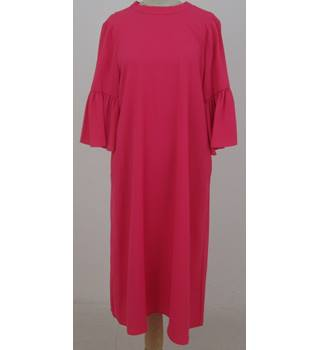NWOT M&S Collection, size 14 bright pink shift dress