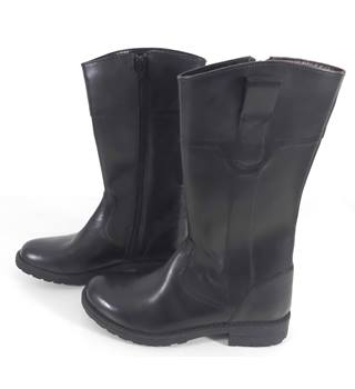 Marks & Spencer  Black Leather Boots Size 13