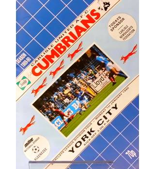 Carlisle United v York City - Division 4 - 1st January 1990