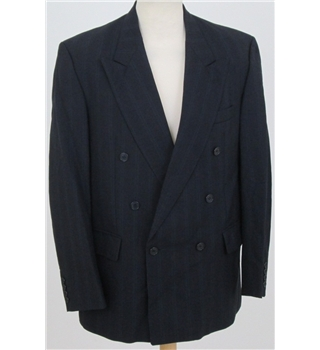 Christian Dior: Size L: Navy blue with green stripe 100% wool  jacket