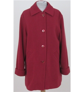 Berkertex size 10 berry red zip and button up coat