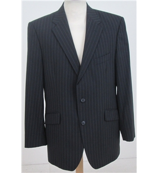 Autograph at M&S size: L navy pinstripe single breasted suit jacket