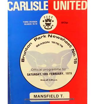 Carlisle United v Mansfield Town - Division 3 - 10th February 1979