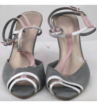 M&S Collection, size 3.5 grey, pink & silver sandals