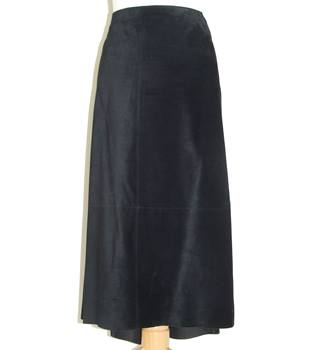50% OFF SALE DKNY Classy Black Suede Skirt DKNY - Size: 10 - Black - A-line skirt