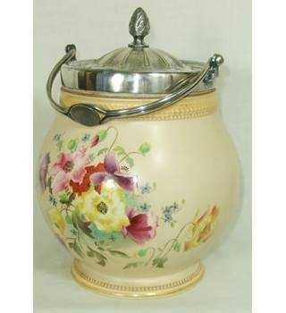 Vintage Carlton Ware Hand Painted Biscuit Barrel