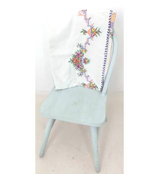 Sweet Cross Stitch Flower Embroidered Tablecloth