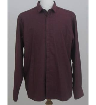 NWOT Autograph size: L burgundy long sleeved shirt