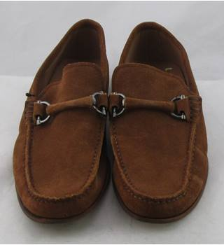 NWOT M&S Luxury Collection, size 6.5 tan suede snaffle loafers