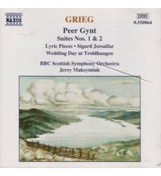 GRIEG  Peer Gynt Suites Nos 1&2, Lyric Pieces, Wedding Day at Troldhaugen, Sigurd Jorsalfar