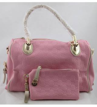 NWOT Kingant pink embossed handbag and purse set