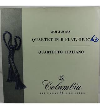 Brahms - Quartet in B Flat, Op. 67 - Quartetto Italiano - 33CX 1244