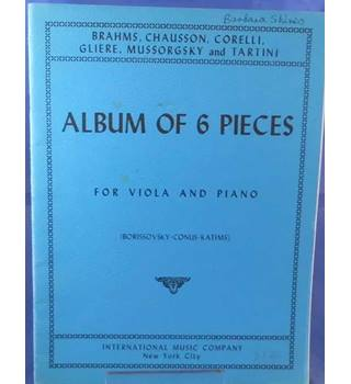 Album of 6 Pieces For Viola And Piano