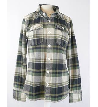 Superdry - Size: M - Green Plaid - Heavy Duty Shirt
