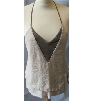 BNWT Zara size S double layered nude cami top