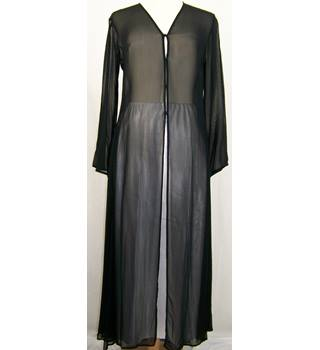 Nitya - Size: 10 - Black - Full length sheer coat