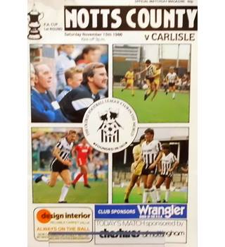 Carlisle United v Notts County - FA Cup 1st Round - 15th November 1986