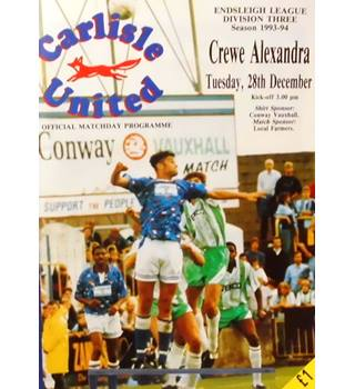 Carlisle United v Crewe Alexandra - Division 3 - 28th December 1993