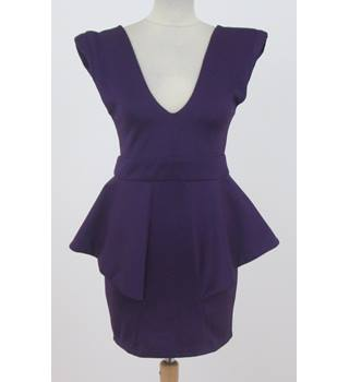 Missguided - size: 8, purple, knee length dress