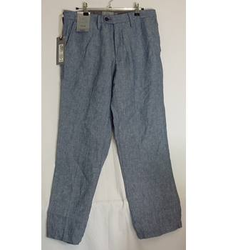 "Women's trousers size 10 by Marks and Spencer M&S Marks & Spencer - Size: 32"" - Blue"