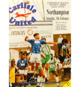 Carlisle United v Northampton Town - Division 3 - 5th February 1994