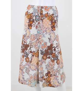M&S Size 10 Mixed Print A-Line Skirt