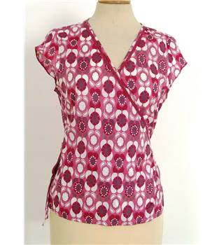 White Stuff Size 12 Pink and White Patterned Top