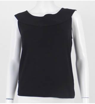 Jaeger Size S Black Sleeveless Top