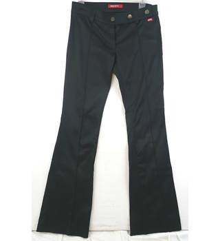 Miss Sixty  size 32  black trousers - boot cut - low waist