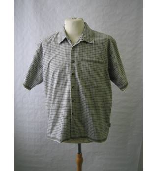 White Stuff - Size: M - Green and blue check- Short sleeved shirt