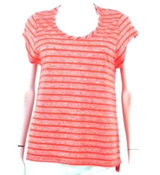 Whistles Size 12 Coral Striped T-Shirt