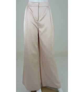 Marks & Spencer Autograph Powder Pink Wide Leg Trousers UK Size 6 Medium / Euro Size 34