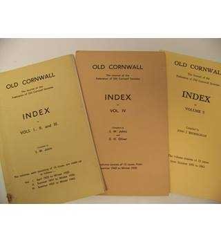 Old Cornwall - Indexes