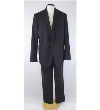 Red Herring size L  black two piece single breasted suit