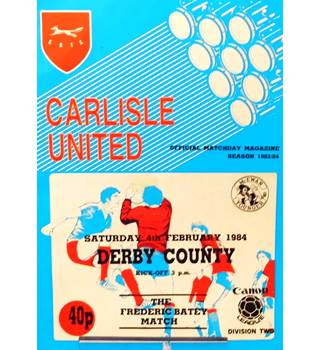 Carlisle United v Derby County - Division 2 - 4th February 1984