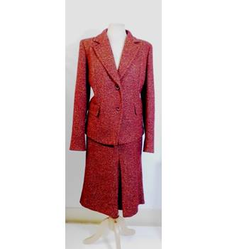 MAX MARA RED MIX SKIRT SUIT