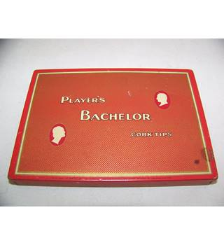 Player's Bachelor Cork Tips vintage cigarette case