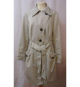 M&S Marks & Spencer - Size: 12 - Cream/Pebble - Casual Coat
