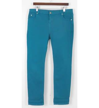 Whistles Teal Narrow Leg Stretch Jeans Waist Size 34