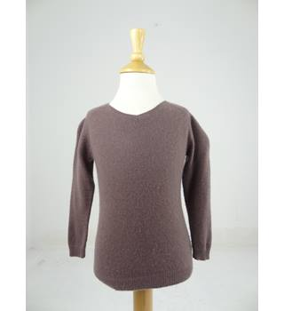 Bonpoint Brown Cashmere 'V' neck jumper Size Age 4 years
