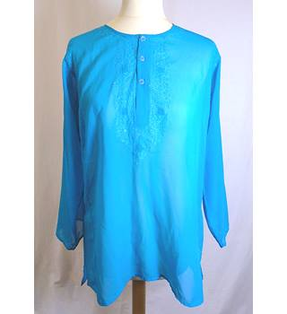 Moon River - Size: S - Blue - Blouse Moon River - Size: S - Blue - Blouse