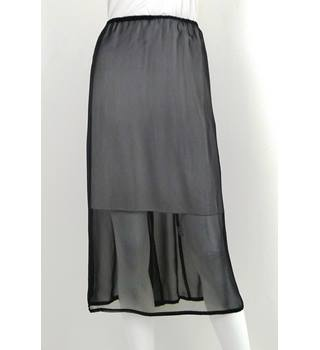 Precis Petite - Size: M - Black -Sheer Chiffon Long Skirt