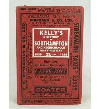 Kelly's Directory of Southampton with street plan 1958