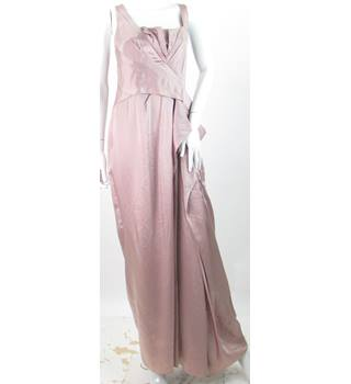 Karen Millen - Size: 12 - Metallic Pink - Evening dress