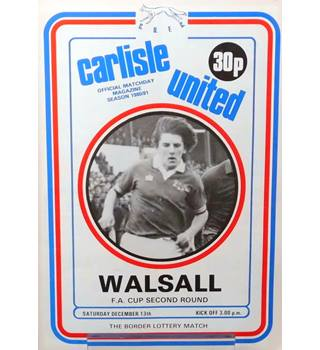 Carlisle United v Walsall - FA Cup 2nd Round - 13th December 1980