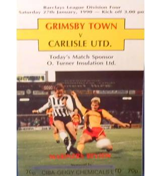 Grimsby Town v Carlisle United - Division 4 - 27th January 1990