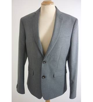 "M & S  Size: S, 36"" chest, slim fit Grey Smart/Stylish  ""Limited Collection"" Polyester Single Breasted Jacket"