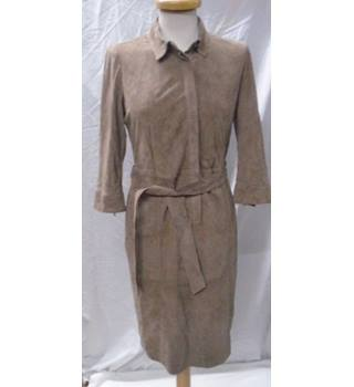 Pure collection suede shirt dress Pure collection - Size: 10 - Brown - Calf length