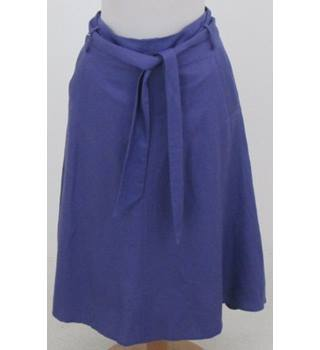 Laura Ashley, size 10 purple linen mix skirt
