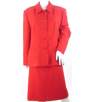Jacques Vert - Size: 18 M - Red - Skirt suit